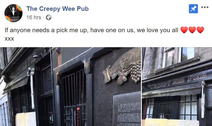 The Creepy Wee Pub in Fife leaves out snacks to cheer up customers